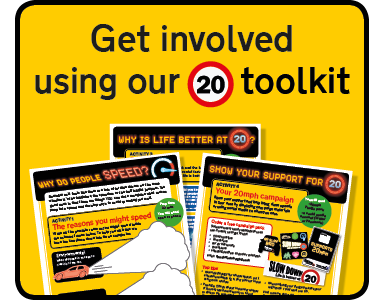 Get involved using our 20mph toolkit