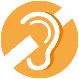 Logo for hearing loss awareness