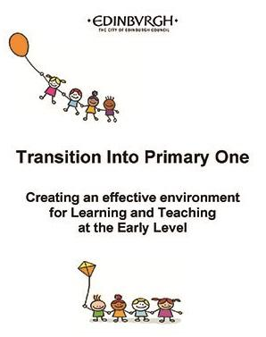 Book cover with the text transitions into primary one - creating an effective environment for learning and teaching at the early level