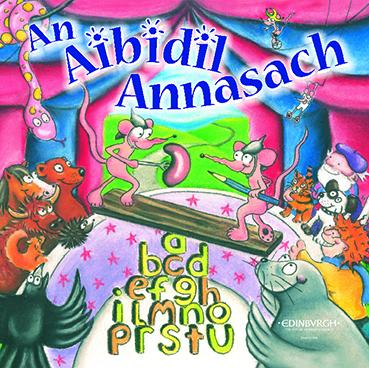 An Aibidil Annasach cover art showing a cartoon circus