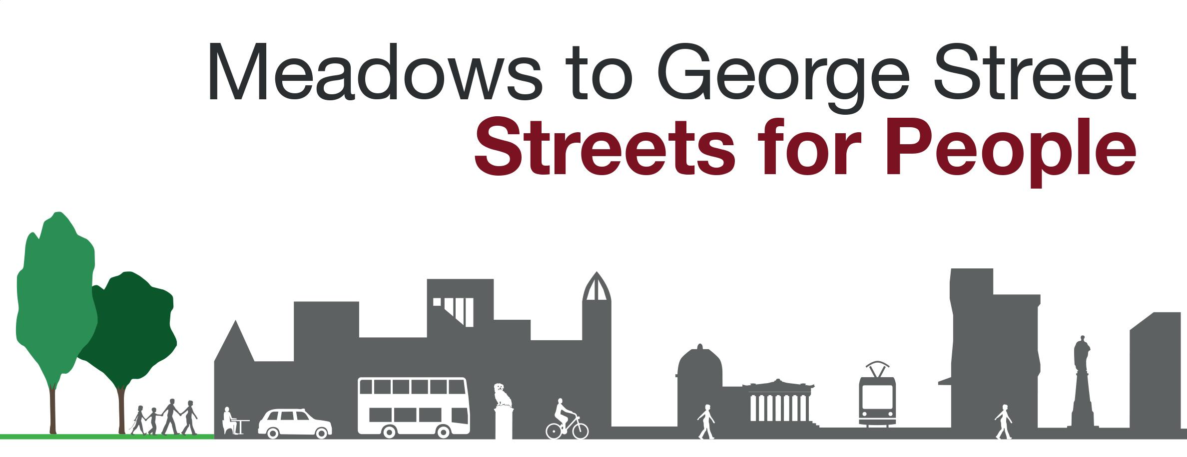 Meadows and George Street Active Travel logo