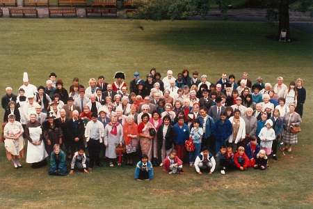 Original publicity shot for opening of People's Story Museum. People gathered in costume