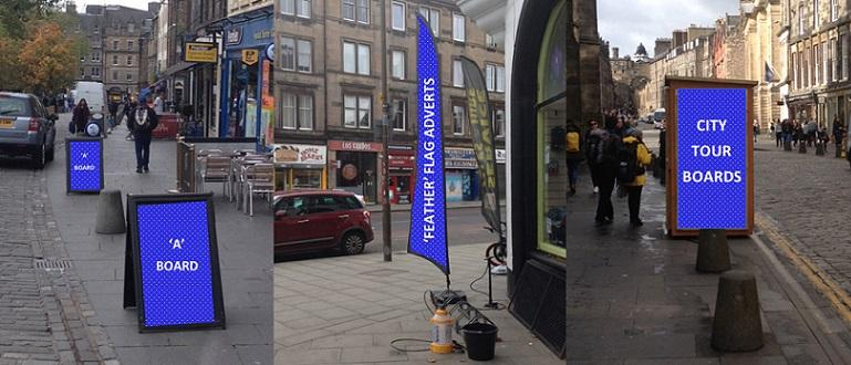 Examples of on-street advertising structures