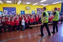 Allan's Magic Show perform at Edinburgh's primary school