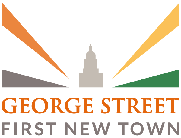 George Street and First New Town logo