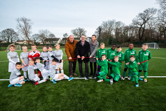Official opening of Hunters Hall football pitches.