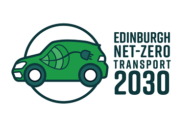 Edinburgh net-zero transport 2030 car logo