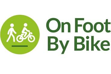 On foot by bike logo