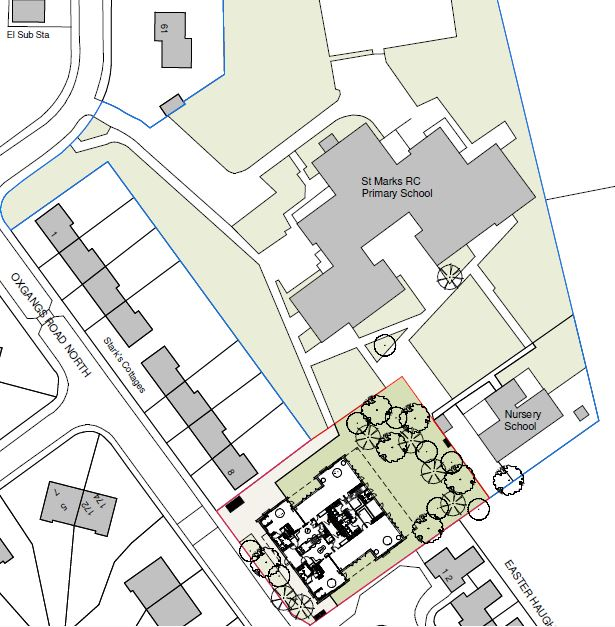 Site plan for St Mark's RC Primary nursery