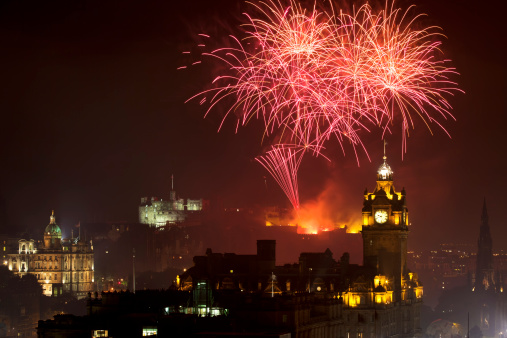 Fireworks at the Edinburgh Castle