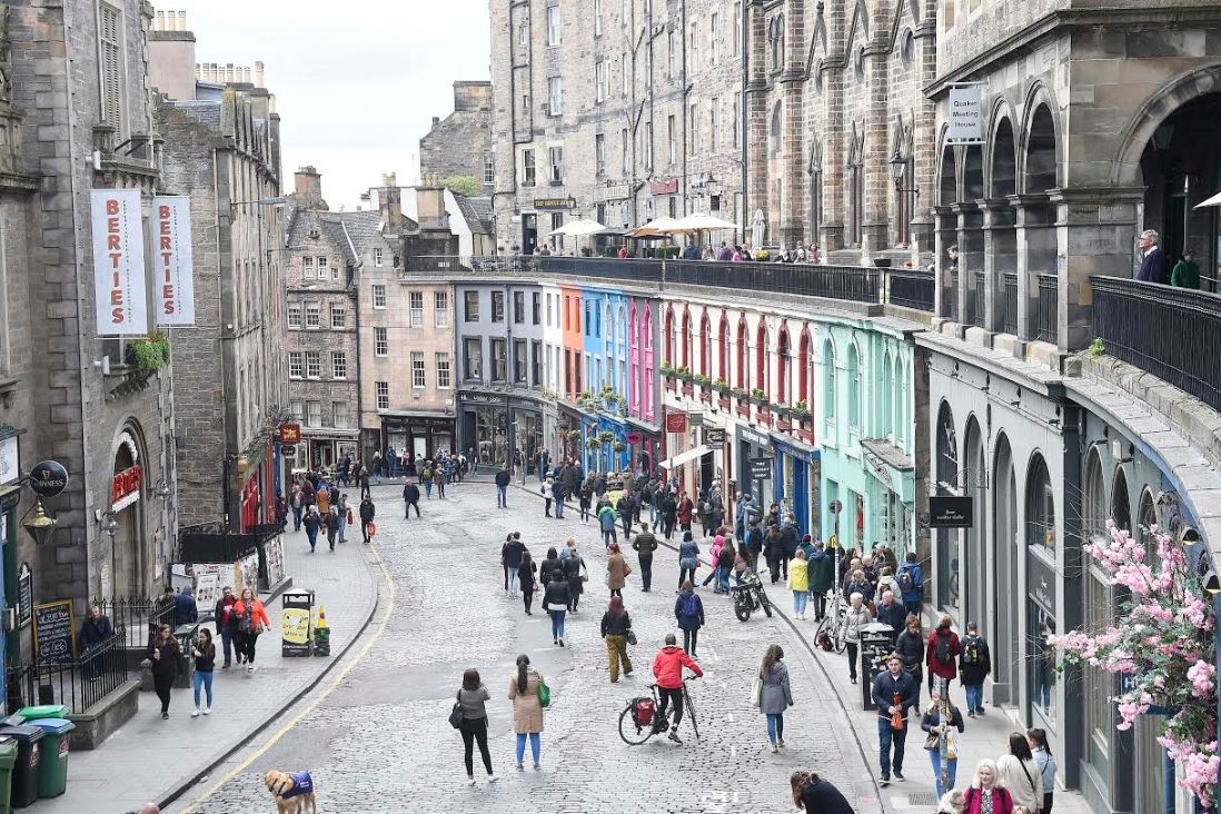 Victoria Street during the Open Streets event on 5 May