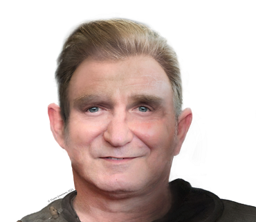 A facial reconstruction of a man from the human remains found during excavations on the project.