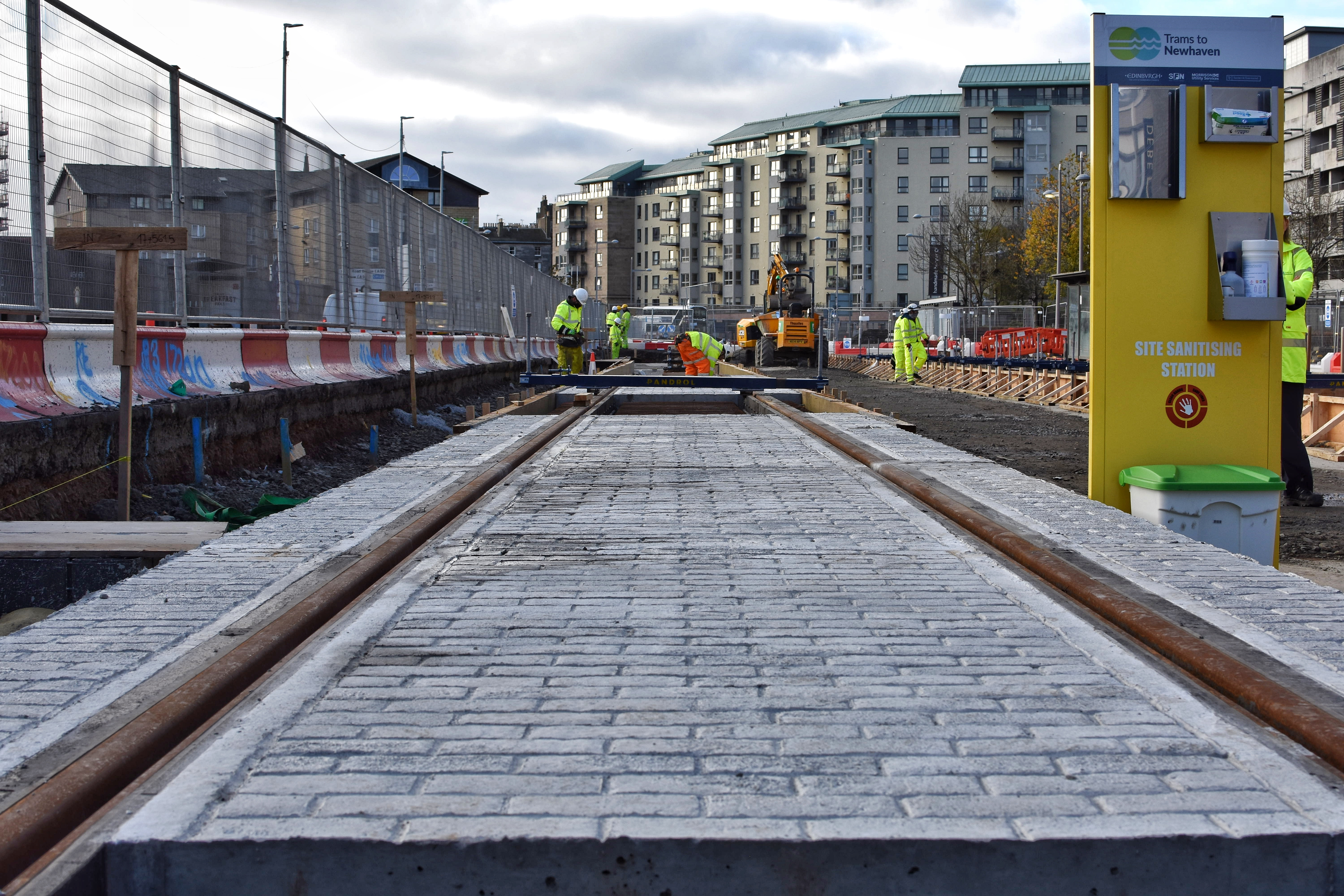 Newly installed track outside Ocean Terminal.