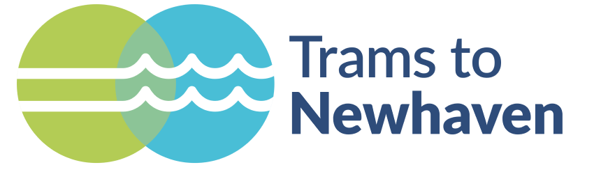 Trams to Newhaven logo